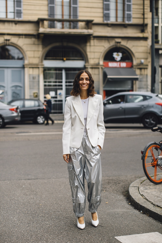 El tejido plata es lo más.