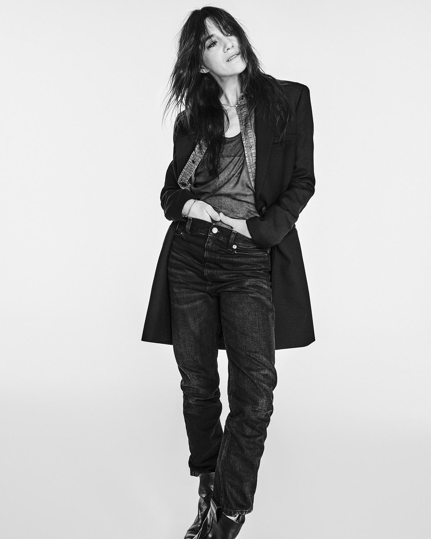 Charlotte Gainsbourg con sus prendas de Zara.
