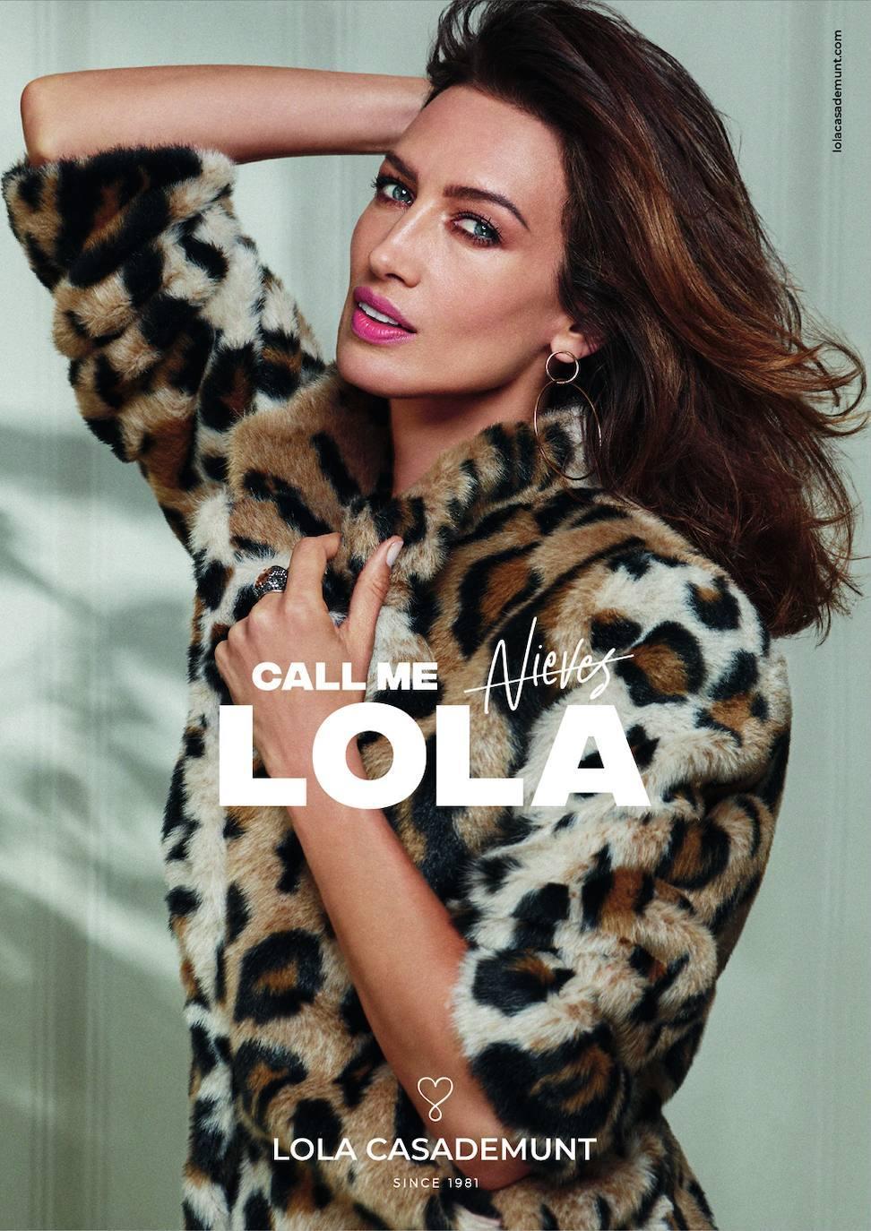 Nieves Álvarez protagoniza la campaña que conmemora los 40 años de Lola Casademunt.