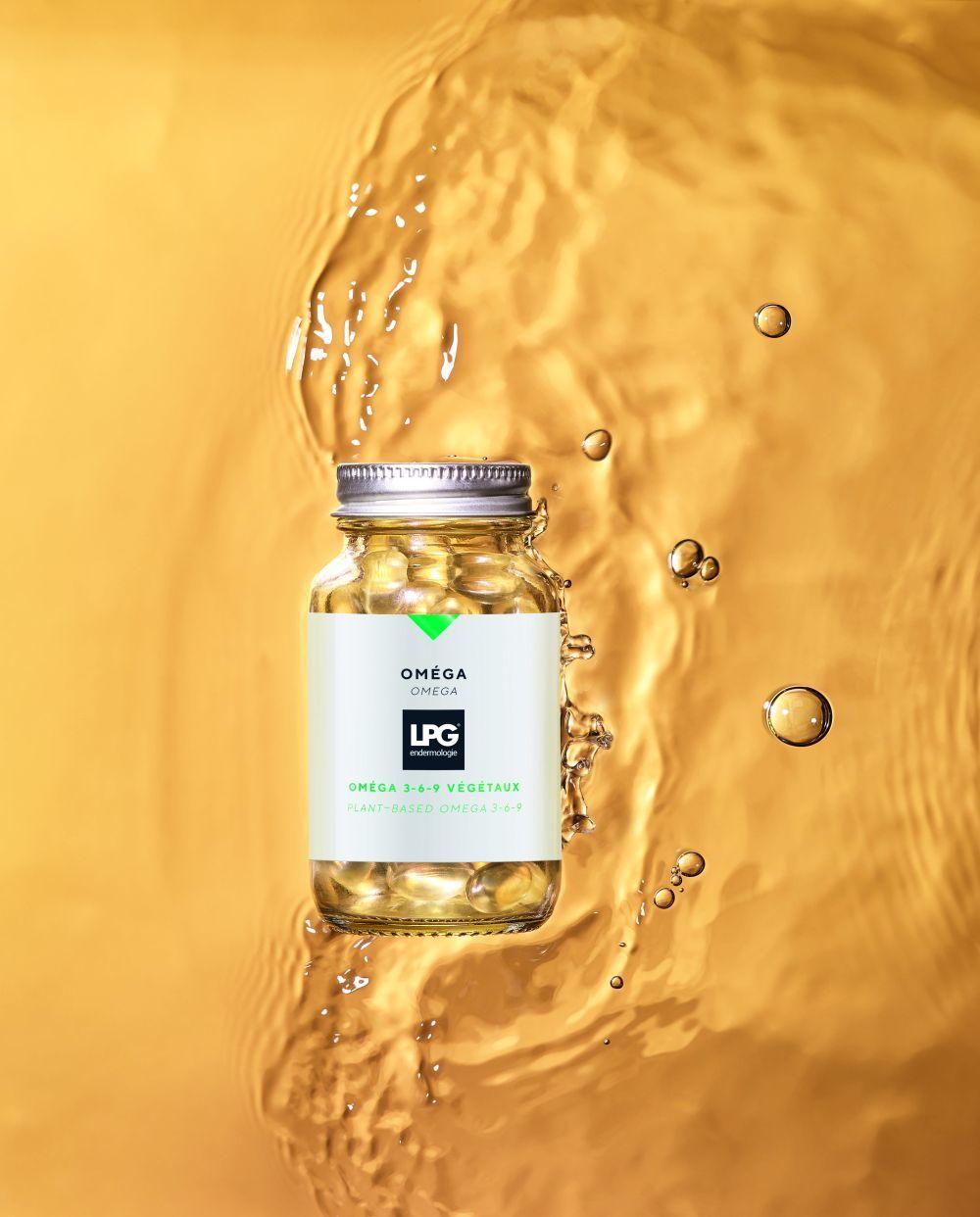 El nutricosmético Omega de LPG ® mezcla omega 3, 6 y 9