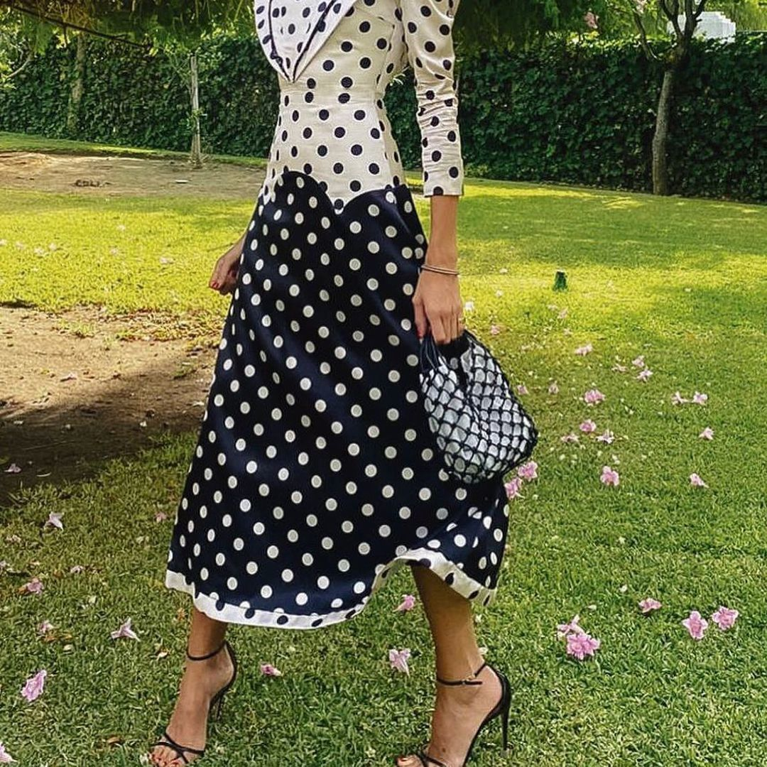 Inés Domecq con el vestido Loretta de The IQ Collection.