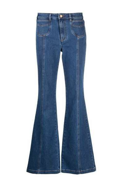 Jeans con bolsillos frontales y costura vertical, See by Chloé.