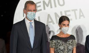 Los reyes de España, don Felipe y doña Letizia, en los premios...