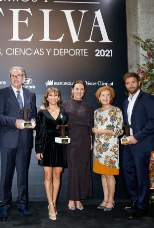 Vicente Larraga, Mariano Esteban y Luis Enjuanes (Premios a las...
