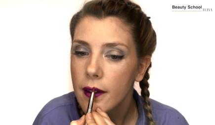 Labios con glitter para un festival