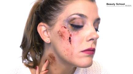 Maquillaje con cicatriz