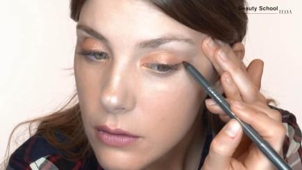 Maquillaje en tonos melocotón