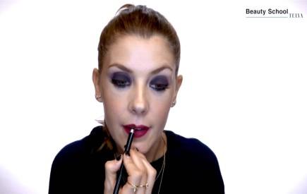 Maquillaje oscuro para la noche