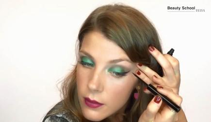 Maquillaje en tonos verdes para fin de año