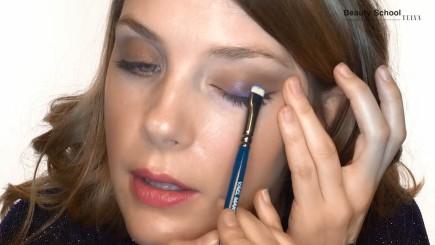 Maquillaje en tonos azules para Navidad