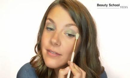 Maquillaje en tonos metalizados