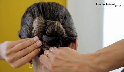 Recogido con el pelo mojado
