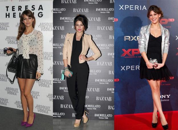 Úrsula Corberó de Maje, Deny Rose, Faith, Hoss, Dior y Louboutin