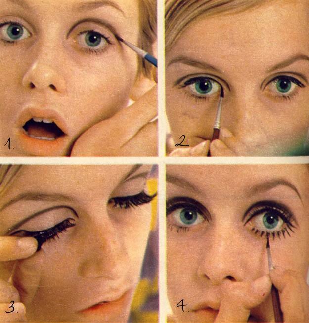 twiggy maquillaje