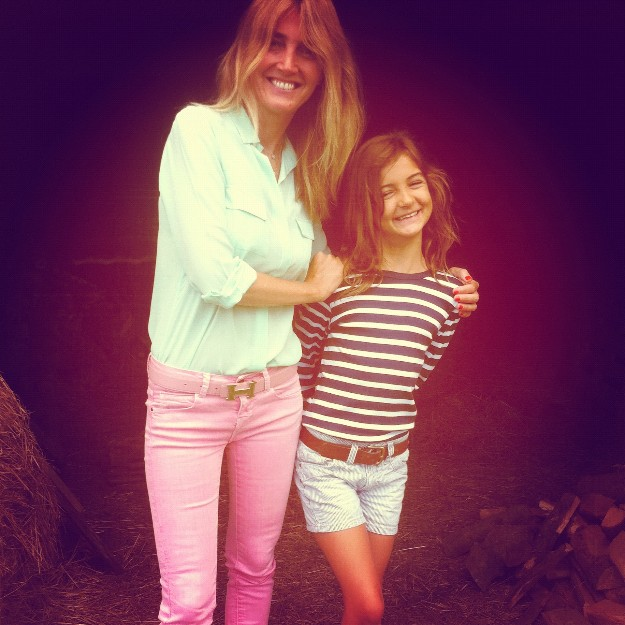 Con mi sobrina Marcelita