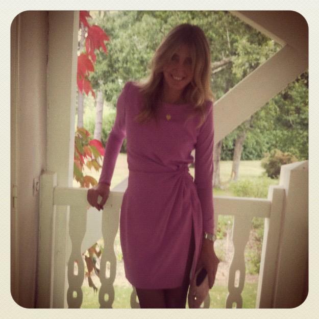 Mi look, un vestido rosa de Lorenzo Caprile.