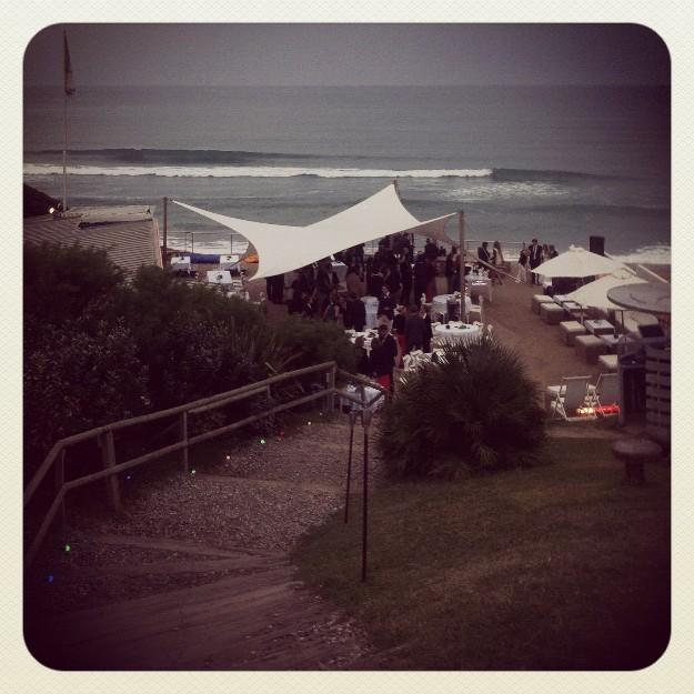 La playa de Biarritz.