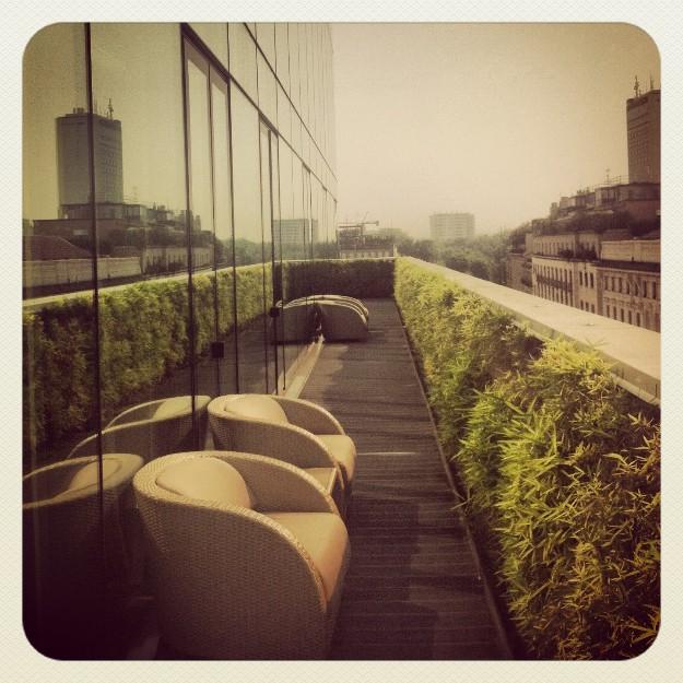 Una terraza espectacular