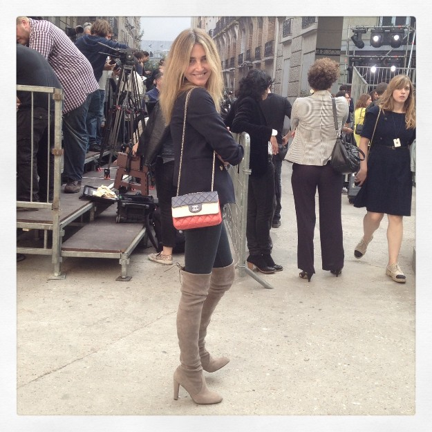 Mi bolso y yo en el desfile
