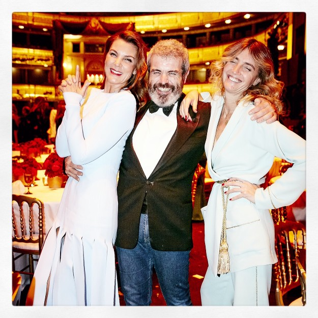 Julia Martínez, jefe de estilistas de TELVA, Lorenzo Caprile y Mar Flores.