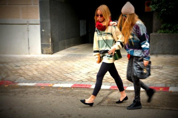 Retro Criss Crossing the Streets
