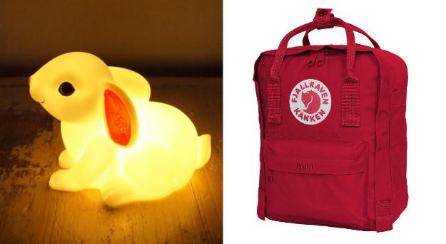 Conejito con luz y mochila Kanken