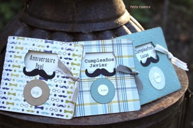 Invitación moustache para niño