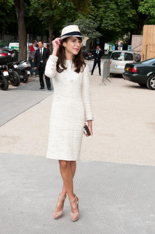 Caroline Sieber con un outfit veraniego muy francés