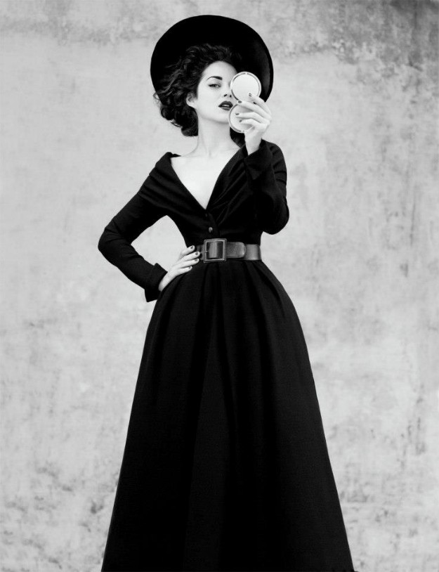 Abandon dress in black wool, Haute Couture Fall-Winter collection 1948-1949.