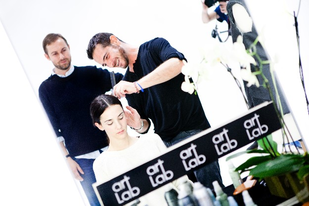 Look beauty - peinado - Luciano di Paoli para Nicolas Vaudelet
