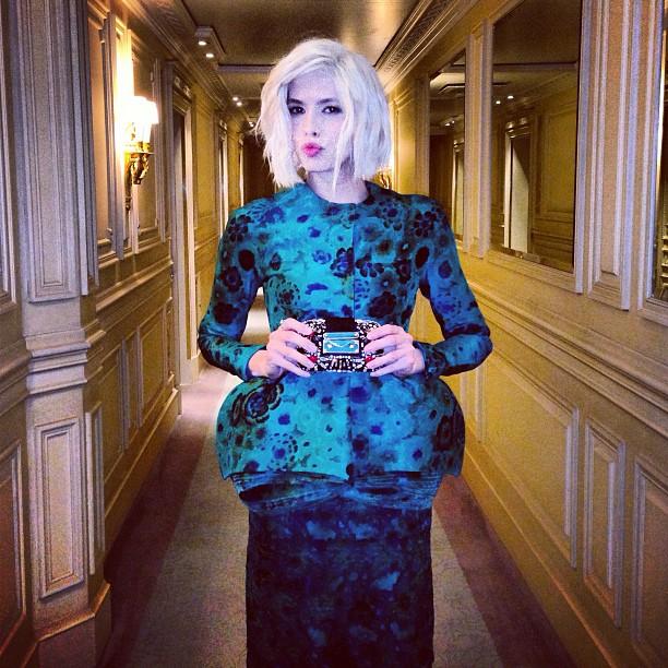 Lena Perminova en Giambattista Valli Haute Couture