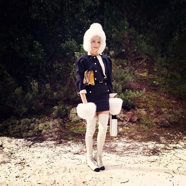 Lena Perminova de CHANEL - CHANEL Haute Couture SS2013