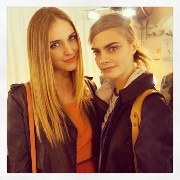 Chiara Ferragni & Cara Delevingne - MBFW NY - NYFW