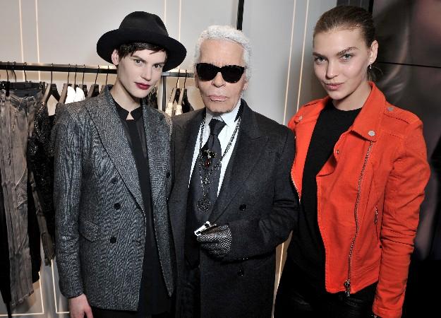 Saskia De Brauw, Karl Lagerfeld y Arizona Muse - Karl Lagerfeld Boutique