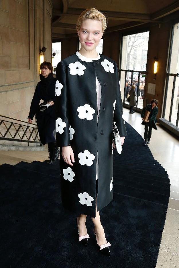 Lea Seydoux - Prada outfit SS13 - Paris Fashion Week