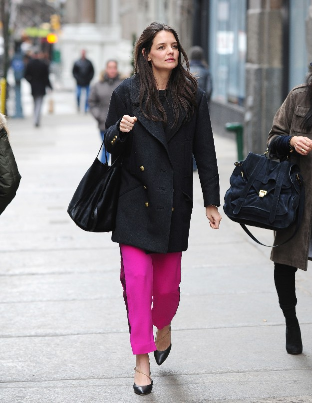Katie Holmes - Sporty chic