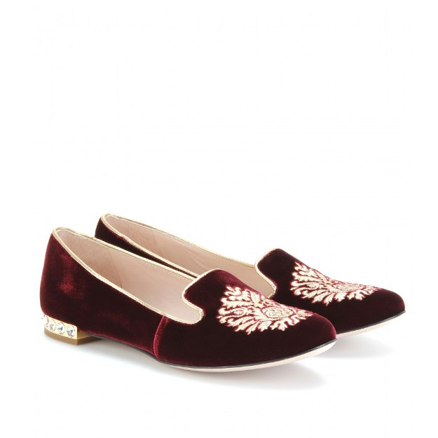 Miu Miu burgundy slippers