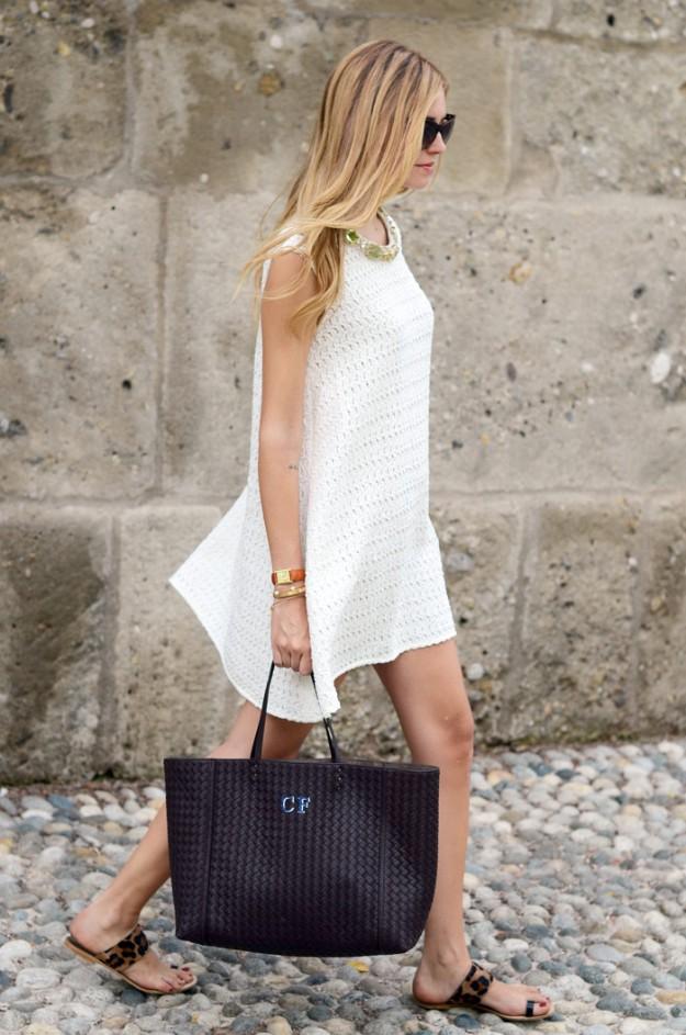 Chiara Ferragni with Bottega Veneta bag - via TheBlondeSalad.com
