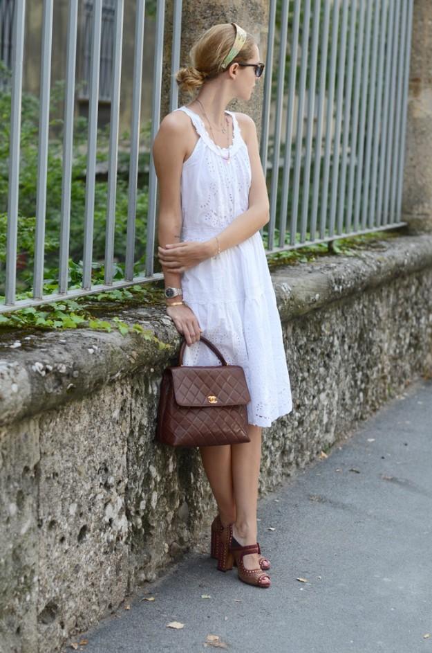 Chiara Ferragni - The Blonde Salad - Adlib + Grace Kelly, un look lady con un punto retro.