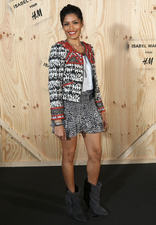 "Actress Freida Pinto during presentation "" IsabelMarant "" colection for "" H&M """