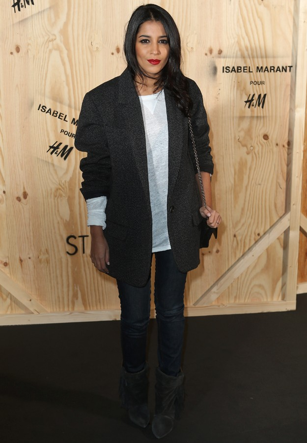 "Actress Leila Bekhti during presentation "" IsabelMarant "" colection for "" H&M """