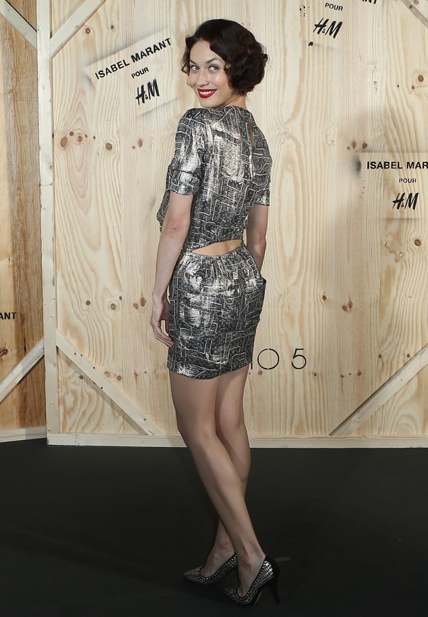 "Olga Kurylenko during presentation "" IsabelMarant "" colection for "" H&M """