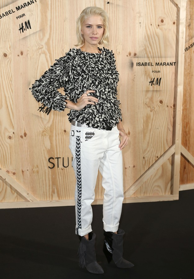 "Model Elena Perminova during presentation "" IsabelMarant "" colection for "" H&M """