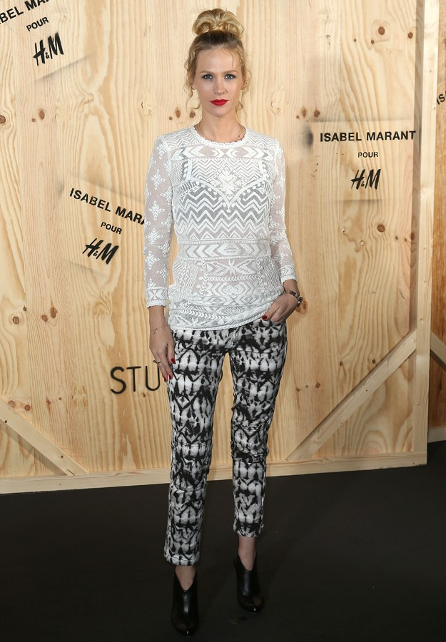 "Actress January Jones during presentation "" IsabelMarant "" colection for "" H&M """