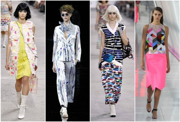 Chanel, Giorgio Armani, Chanel y Preen SS14 - Tendencia Arty