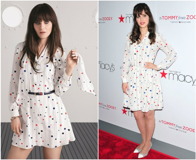 'To Tommy, from Zooey' - Zooey Deschanel & Tommy Hilfiger
