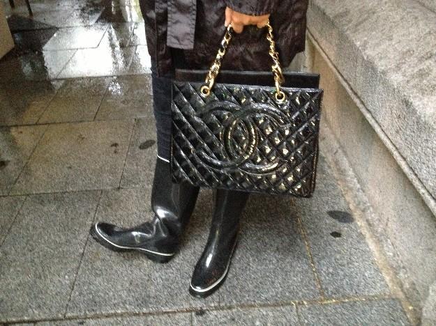 Detalle botas y bolso/Foto Mirta Gutierrez