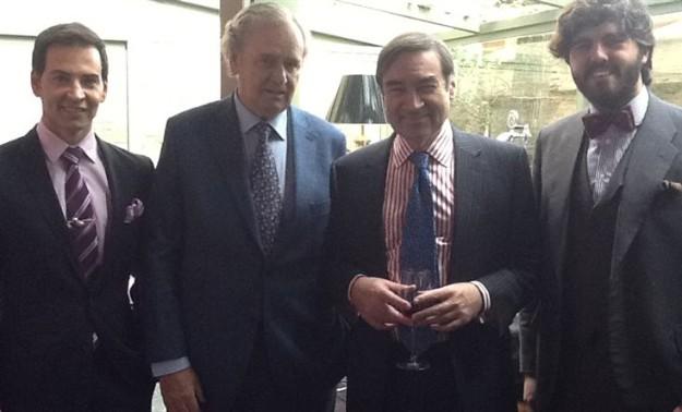 David Meca, Enrique Rúspoli, Pedro J. Ramírez y Mario Niebla