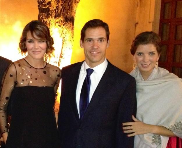 Con los duques de Anjou, anfitriones de la gala
