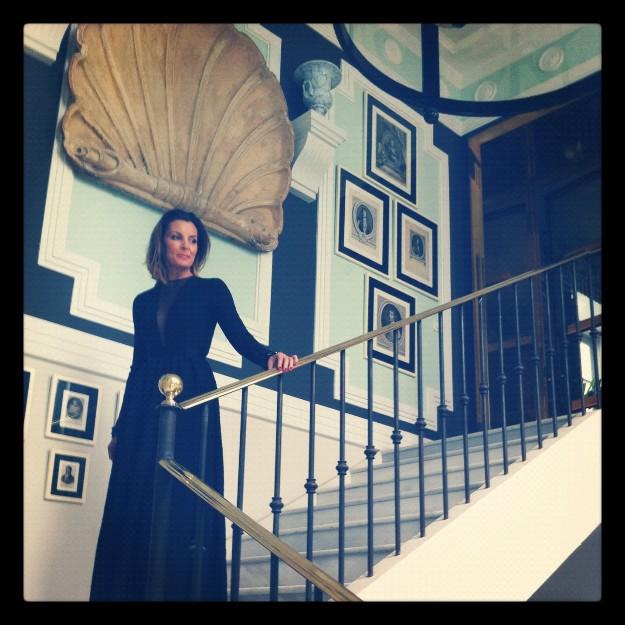 Vestido largo negro de Dior